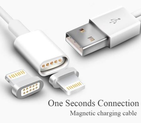 Picture of Magnetic Charging Cable USB Adapter Charger For iPad / iPhone 5/5S 6/6S 7 & 8/7 Plus
