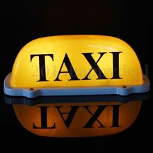 Picture of TAXI Roof Sign for Private Hire and Taxi's LED 12V Light Magnetic in Yellow