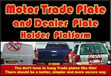 Picture of Motor Trade Plate or Dealer Plate Holder Platform - Out of Sock