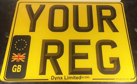 "Picture of Square DVLA Registration Number Plate (11"" x 8""Inch) Printing"