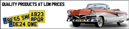"""Picture of Square DVLA Registration Number Plate (11"""" x 8""""Inch) Printing"""