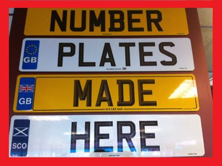 Picture of Vehicle Registration Number Plate (Oblong 520mmx 111mm) Printing
