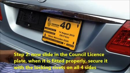 Picture of Twin Plate Holder Platform for Taxi, Private Hire & Minicab DVLA & License plate