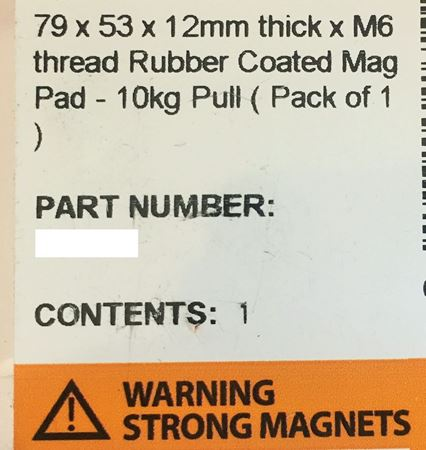 Picture of 2x Magnet Extra Strong for Taxi License plate Roof Signs, driving school 79x53mm