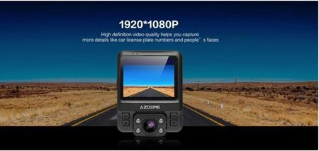 Picture of AZDOME GS65H Dual Lens Car DVR Dash Cam Front HD 1080P / Rear 720P Video Camera