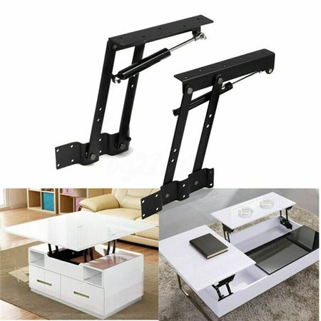Picture of 1 Pair Lift Up Top Coffee Table bracket Hardware Mechanism Furniture Hinge heavy