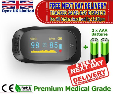 Picture of Premium Quality OLED Display Fingertip Pulse OXIMETER Blood Oxygen SPO2 Monitor, Oxygen Saturation Monitor SATS Monitor