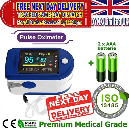 Picture of Oxygen Saturation Monitor SATS Monitor - SPO2 Pulse OXIMETER SATS Probe - Blood Oxygen Finger Monitor, CE ROHS Certified